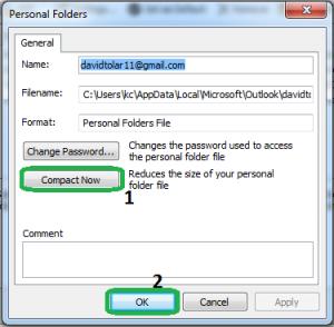 personal folder window