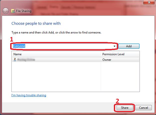 Add sharing